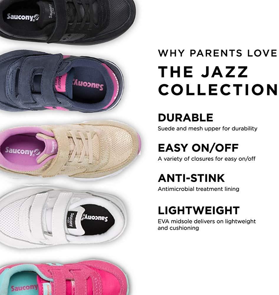 Dettagli su Kids Saucony Girls Baby Jazz Low Top Bungee Fashion Sneaker, Tan, Size 4.0 fbiO