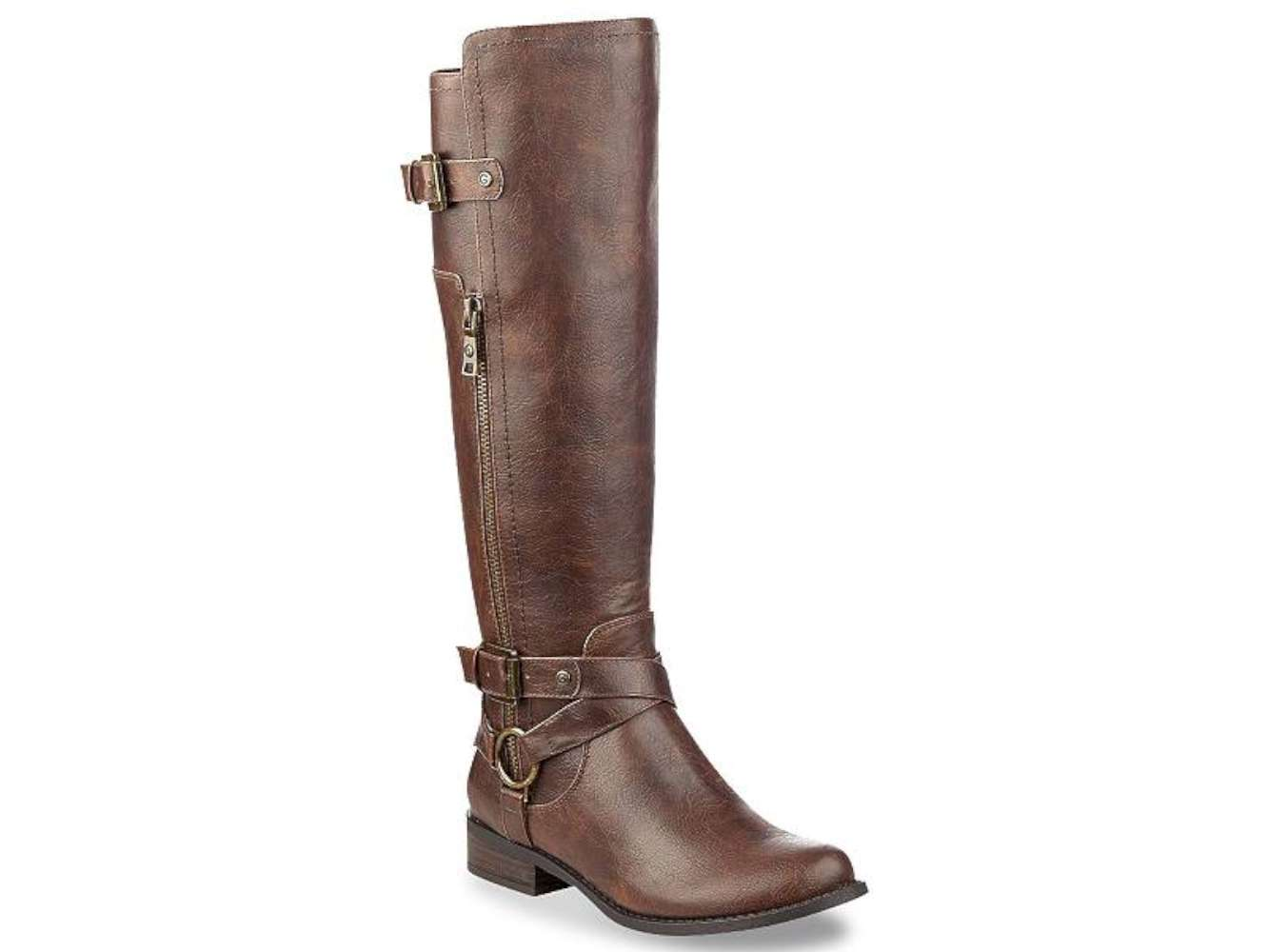 G by Guess Womens herly wc Closed Toe Knee High Fashion dark brown Size 8.5