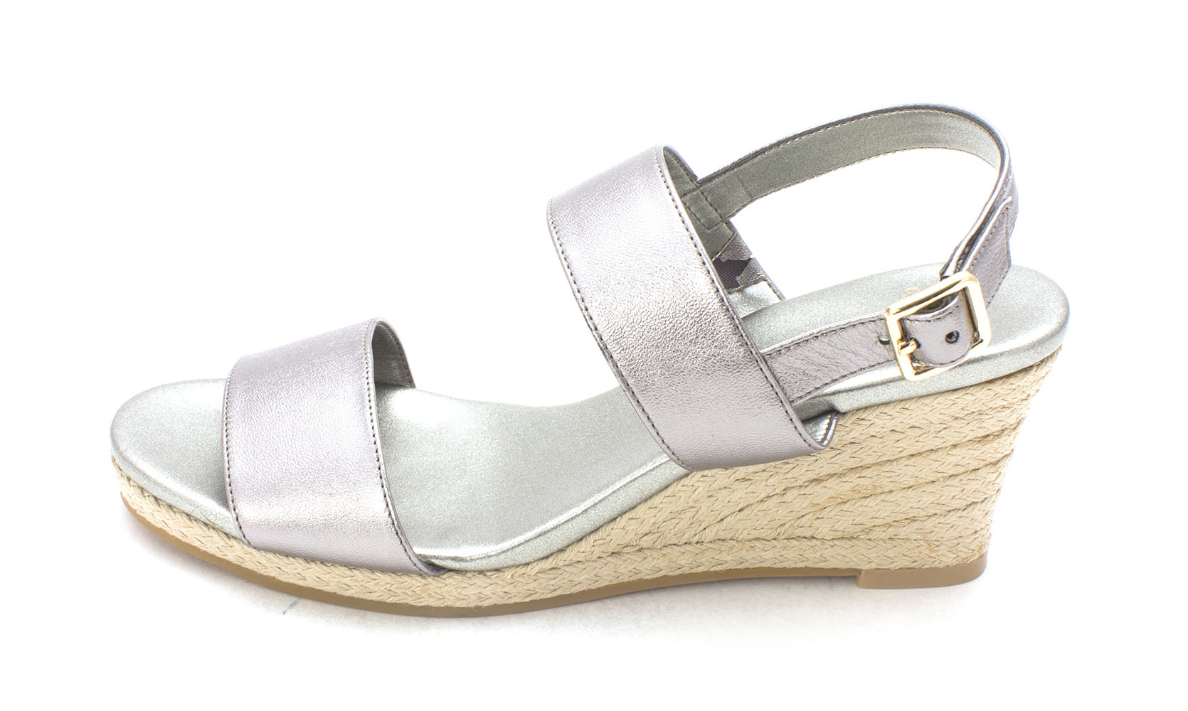 Cole Haan Womens Aleahsam Open Toe Casual Espadrille Sandals Gunmetal Size 60