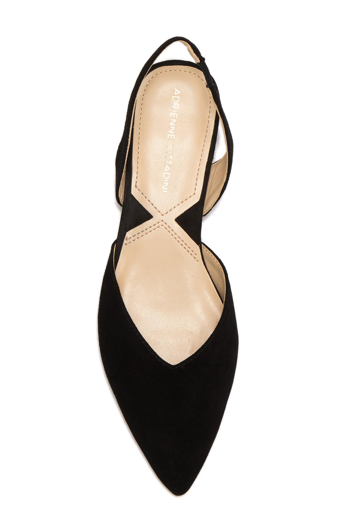 bbf2bd4c5 Adrienne Vittadini Womens Franny Leather Pointed Toe SlingBack ...