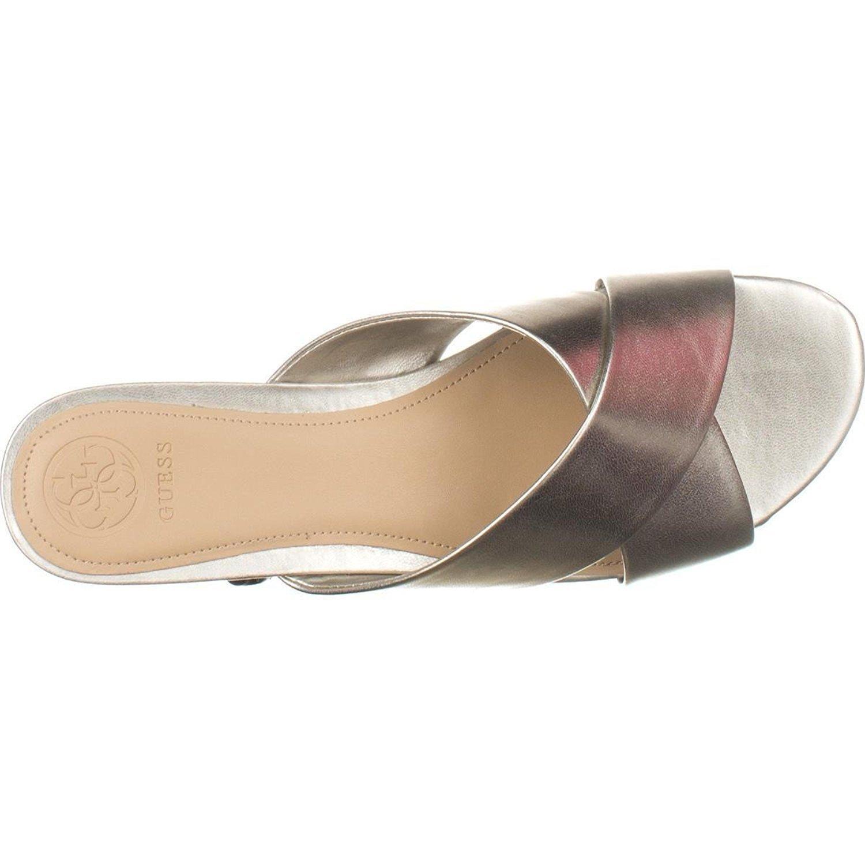 d3dc6b1b7c2 Guess Flashee3 Womens Flat Sandals Silver 6.5 US   4.5 UK fcTT ...